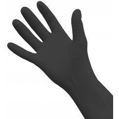 Black Rubber Gloves, Medium