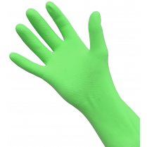 Green Rubber Gloves, Medium