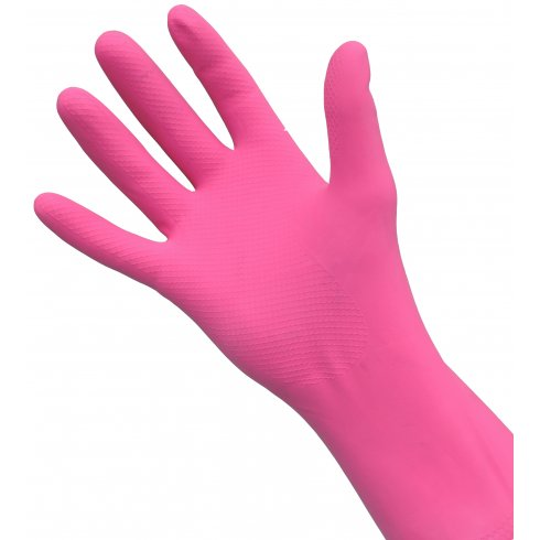 Pink Rubber Gloves, Medium