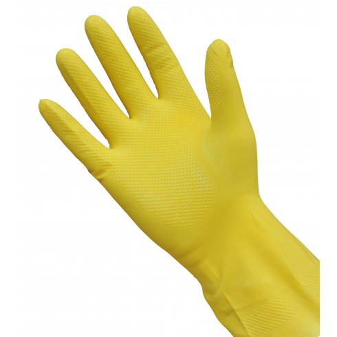Yellow Marigold Rubber Gloves, Medium