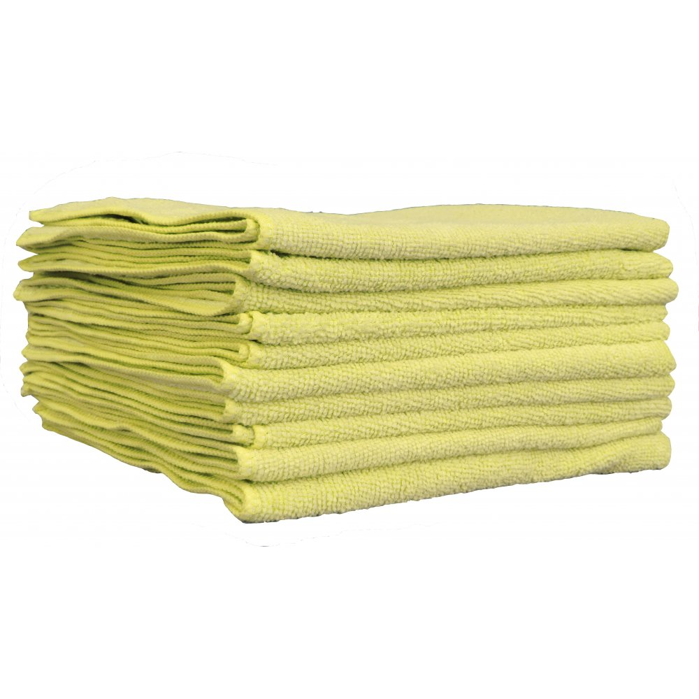 Yellow Microfibre Cloth From Craftex Cleaning Systems Uk