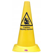Yellow 'Wet Floor' Cone